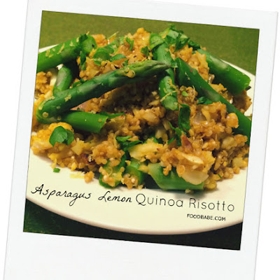 Food Babe's Asparagus Lemon Quinoa Risotto