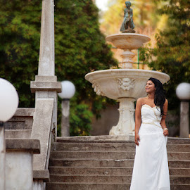Waiting Bride by Mary Wallis - Wedding Bride ( bridal, latina, wedding, woman, lady, brunette, bride )