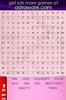 Screenshot of Valentine's Day Wordsearch