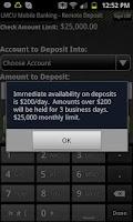 Screenshot of LMCU Mobile Banking