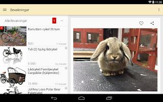 Screenshot of Blocket