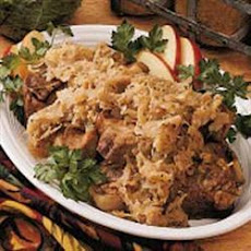Pork With Apples And Sauerkraut