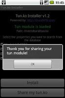 Screenshot of TUN.ko Installer
