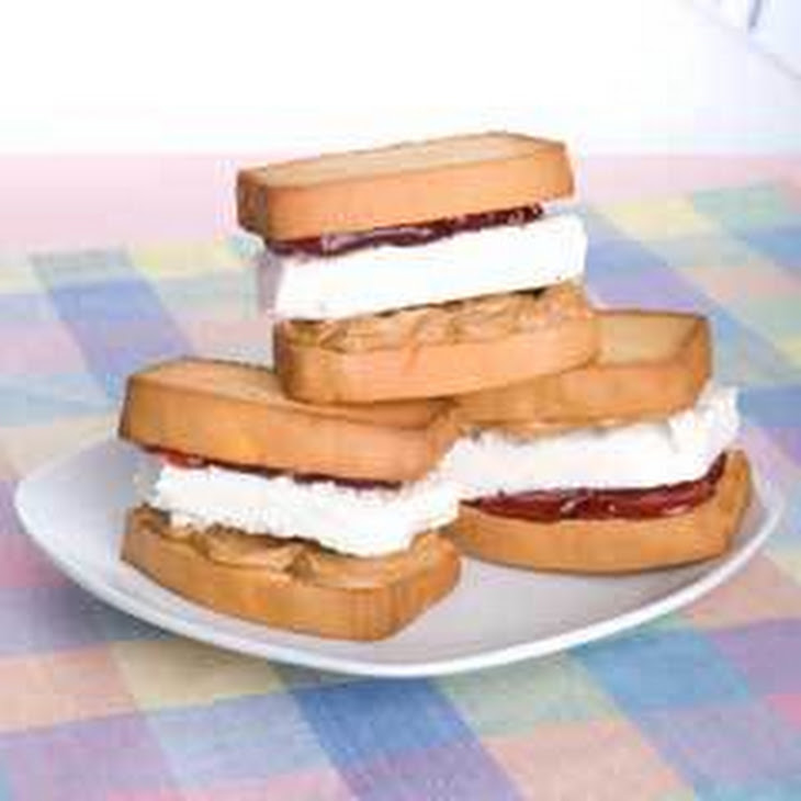 Peanut Butter & Jelly Ice Cream Sandwiches Recipe | Yummly