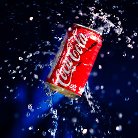 This Coke is for you. by Dale Frazier - Food & Drink Alcohol & Drinks ( refreshing, splashing, splash, refreshment, drink, cold drink )
