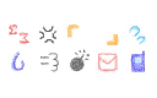 Screenshot of メール素材 - クレヨン02(記号)