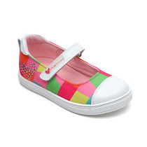 Agatha Ruiz de la Prada Multi Coloured Bar Pump BAR SHOE