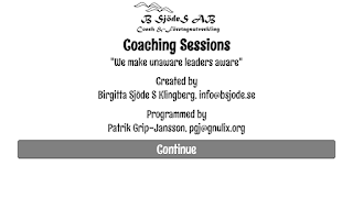 Screenshot of Coaching Sessions
