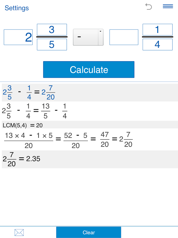 Fraction calculator Screenshot 10