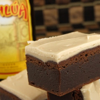 Kahlua Brownies w/ Brown Butter Kahlua Icing