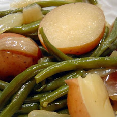 New Potatoes,Green Beans and Ham