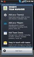 Screenshot of Sports Team Manager
