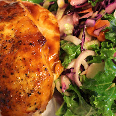 Glazed Chicken Breast With Kale Salad