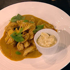 Chicken Yellow Curry With Banana, Lime And Coconut