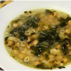 Chickpea soup with Spinach and Macaroni - Sopa de Grão com Espinafres