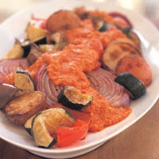 Roasted Vegetables with Romesco