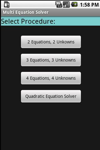 Multi Equation Solver