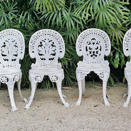 White Chairs by Koh Chip Whye - Artistic Objects Furniture (  )