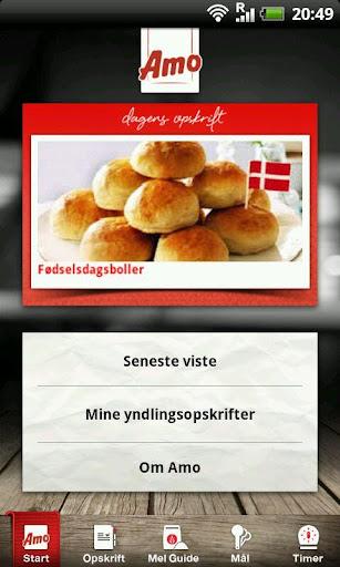 Amo Opskrifts App