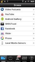 Screenshot of ZappoTV Mobile Media Center