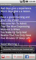 Screenshot of Good Morning/Night Messages