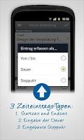 Screenshot of LMT Zeiterfassung für Projekte
