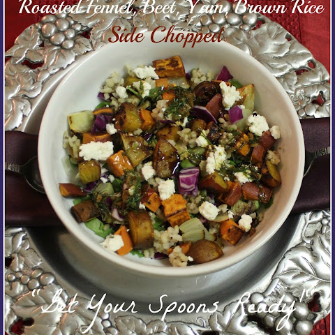 Roasted Fennel, Beet, Yam, Brown Rice Side Chopped