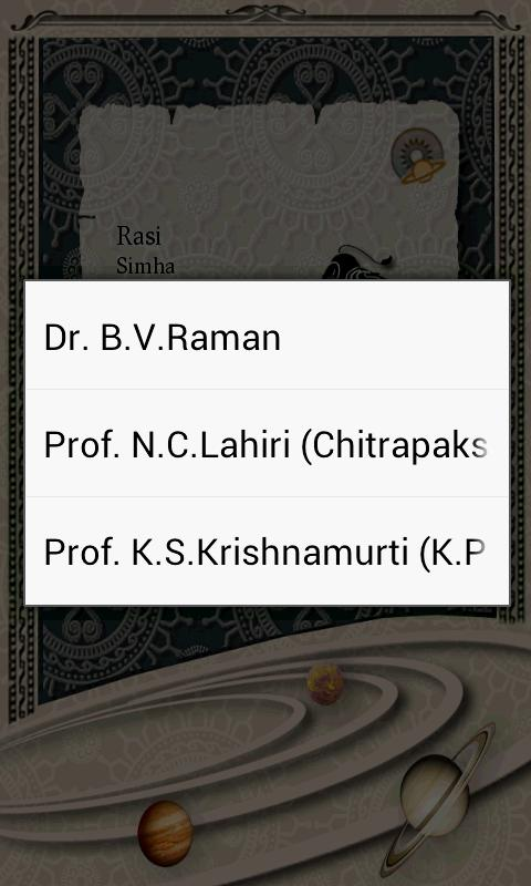 Rasi Nakshatra Sign