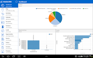 Screenshot of Resco Mobile CRM for Dynamics