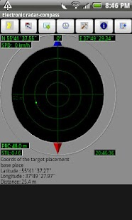 Electronic radar compass - screenshot