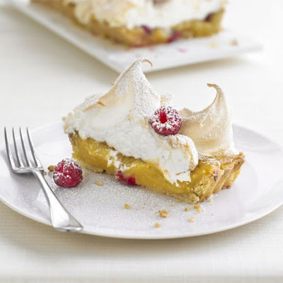 Lemon & Raspberry Meringue Tart