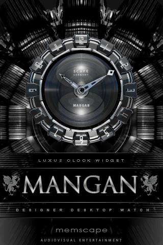 MANGAN Luxury Clock Widget