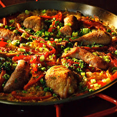 Chicken , Sausage and Red Pepper Paella