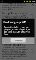 Screenshot of Handcent GroupSMS Plugin 6