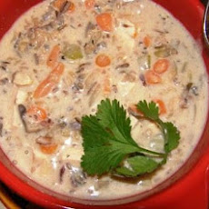 Low-Fat Cream of Chicken and Wild Rice Soup
