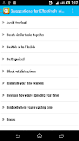 Screenshot of Time Management Tips