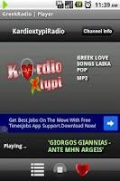 Screenshot of Greek Radio