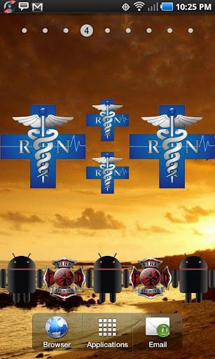 RN Cross doo-dad blue