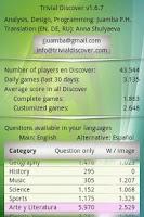 Screenshot of Trivial Discover (trivia quiz)