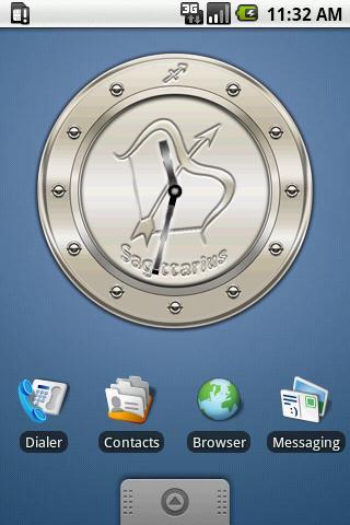 SAGITTARIUS - Metal Clock