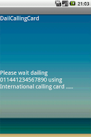 Screenshot of Dial Calling Card