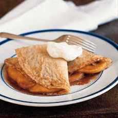 Crepes with Sautéed Apples and Caramel Sauce