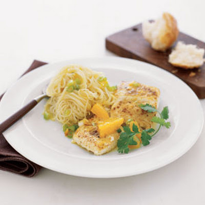 Halibut with Oranges and Angel Hair Pasta