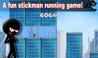 Screenshot of Stickman Roof Running