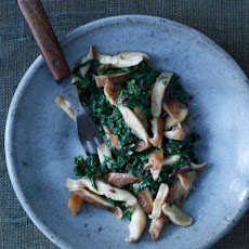 Swiss Chard Braised in Shiitake Butter