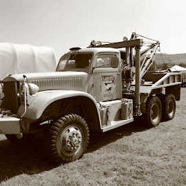 Tow Truck by Mike Coombes - Transportation Automobiles ( veteran, truck, tow truck, vintage, tow, american,  )