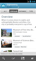 Screenshot of Boston Travel Guide
