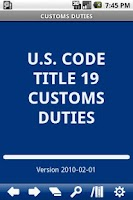 Screenshot of USC T.19 Customs Duties