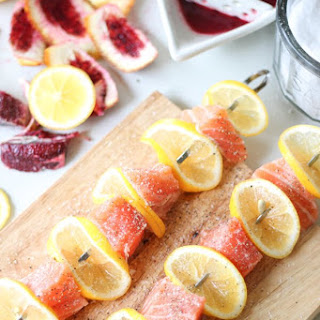 Salmon Kebabs with Blood Orange Balsamic Glaze