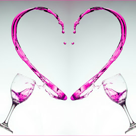 heart wine by John Sprague - Food & Drink Alcohol & Drinks ( wine, heart, red, glass, pink )